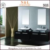 高品質の二重浴室の流しの純木の浴室の虚栄心(B-8590)