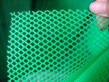 Зеленая пластичная сетка плоской проволоки в отверстии от 1.5cm до 3.0cm