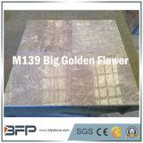 Chinesischer grosser goldener Blumen-Marmor 10mm der starken Fliese für Bodenbelag, Wand-Dekor