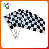 폴란드 (HY234)와 가진 주문 흑백 Checkered 깃발