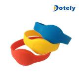 Reloj del gel de silicona de los Wristbands de la etiqueta del silicón RFID para el deporte