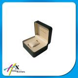 Коробка Textured вахты Фабрик-Цены Veneer кожаный бумаги роскошного одиночного упаковывая