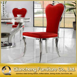 Diamond를 가진 백색 Leather Metal Dining Chair