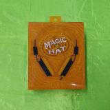 Rectángulo plástico hecho por el PVC para el auricular con la impresión ULTRAVIOLETA