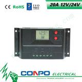 20A, 12V/24V 의 LCD 지능적인 태양 관제사