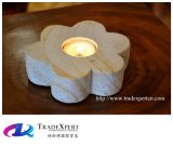 창조적인 가구 장식은 생활 화강암 돌 촛대를 꾸민다