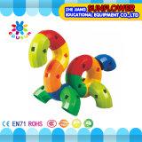 Kind-Plastiktischplattenspielzeug-Röhrenbausteine
