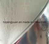 Aislante incombustible laminado del papel de aluminio del paño de acoplamiento de la fibra de vidrio