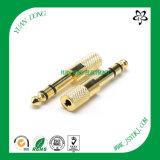 6.35 Stereo Mono Plug 1/4 '' Conector de microondas Cable de guitarra Conector RCA