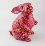 La vente en gros de côté de lapin fleurit le cadre animal d'économie de série