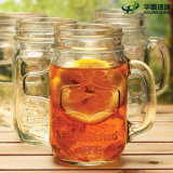 HandleおよびStraw Lidの1oz-24oz Craft Glass Mason Jars