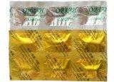 O comprimido marca a folha de Alu da tira colorida de material de empacotamento das cápsulas