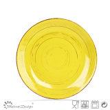 Las placas de cerámica del servicio de mesa Shinny el esmalte con diseño del final antiguo