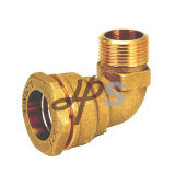 HDPE PVC Pipe H833를 위한 유럽 Standard Brass Compression Fitting