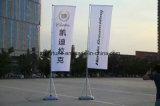 羽のフラグの屋外広告の高品質によって印刷される涙の上陸海岸表示旗