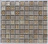 mozaïek van de Steen van 30*30mm het Bruine Witte voor Muur