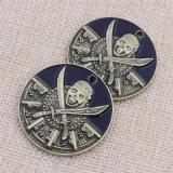 기념품 주문 금속 두개골 사기질에 의하여 돋을새김되는 동전
