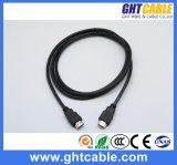 Câble à grande vitesse de HDMI avec des faisceaux de boucle