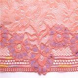 Ajustes de nylon rosados del cordón del telar jacquar del Spandex para los accesorios de la ropa