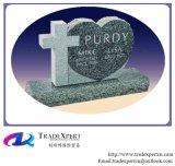 Memoriale del cuore di Single&Double del granito per il cimitero