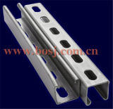 支柱Channel Slotted Cable Tray 41*62mm Roll Forming Production Machineミャンマー