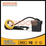 Mineiros recarregáveis impermeáveis Caplamp da bateria do Li-íon da escala longa, farol