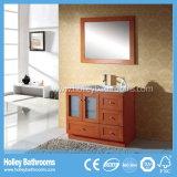 Gabinete de banheiro curvado clássico da madeira contínua de madeira contínua do estojo compato americano do estilo (BV180W)