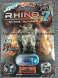 Rinoceros 7 Platina 3000, de Pillen van de Versterker van het Geslacht 5000mg