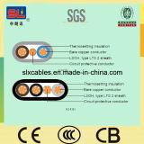 Изоляция PVC и обшитый плоский кабель, 300/500V или 450/750V