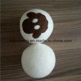 Eco-Driendlyは自然なファブリック軟化剤のウールのドライヤーの球を6詰める