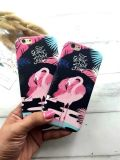 Caixa bonito Shaped animal do PC do flamingo da forma para iPhone6