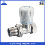 Brass válvula de ángulo de calefacción con la manija (YD-3007)