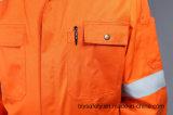 combinaison ignifuge de vêtements de travail de sûreté de 88%Cotton 12%Nylon avec la bande r3fléchissante (BLY1014)