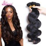 K.Sのかつら100%の人間の毛髪の拡張ペルーの人間の毛髪