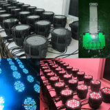 O teatro 54X3w RGBW Waterproof a iluminação do DJ da PARIDADE 64 do diodo emissor de luz de DMX