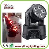 6in1 Rgbawuv Partei-Licht des Wäsche-mini bewegliches Kopf-LED