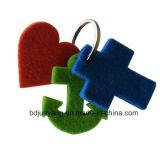 Geschmälerter kreativer Schlüsselketten-Filz-Schlüssel-Beutel-umweltsmäßiggroßverkauf angepasst