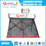 Calentador 200L 20 tubos de acero inoxidable solar de agua para el hogar