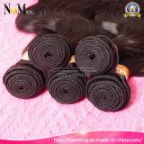 Preiswerte natürliche Wellen-natürliche Großhandelsfarben-natürliches schwarzes China-Karosserien-Wellen-Jungfrau-Haar