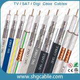 75 ohms de cabo coaxial Rg7 de CATV Dual com mensageiro