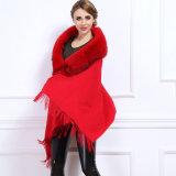 Châle tricoté acrylique de l'hiver de collier de fourrure de Fox de mode de femmes (YKY4524)