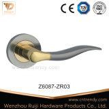 Traitement de levier en alliage de zinc de porte sur la rosette (Z6088-ZR03)