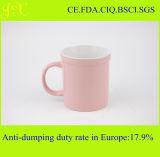 Tazas de café de cerámica esmaltadas color