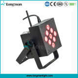 Con pilas sin hilos 9X10W RGBW LED luz de la etapa de cubierta