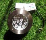 Éclairage LED souterrain de couverture d'acier inoxydable de 12 DEL (JP824121)