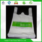 Bolso plástico impreso del empaquetado plástico de la maneta del chaleco de la camiseta de las compras