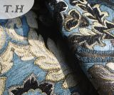Modèle coloré de configuration de tissu de sofa de jacquard de Chenille en Chine Munufactory (FTH31616)