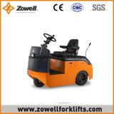 Heißes Verkaufs-Cer-neuer 4 Tonnen-elektrischer Schleppen-Traktor Zowell ISO-9001, der auf Typen sitzt