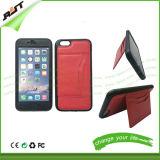 Caixa de couro do telefone móvel do plutônio da tampa do projeto da carteira para o iPhone
