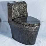 De ceramische Marmeren Decoratie Uit één stuk van WC van de Kleur van het Watercloset van het Toilet (A-006S)